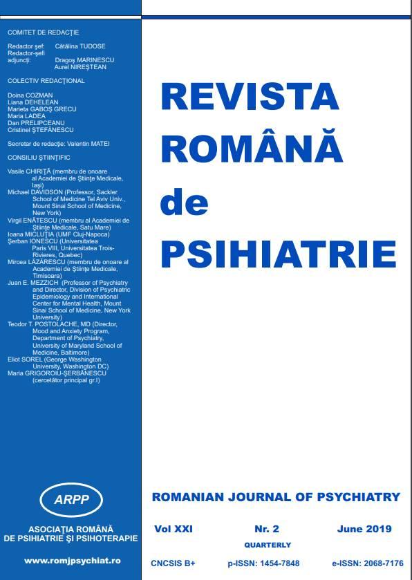 Revista Romana de Psihiatrie Nr. 2/2019 (pdf)