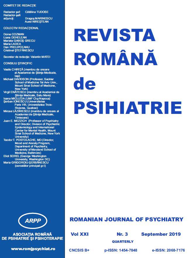 Revista Romana de Psihiatrie Nr. 3/2019 (pdf)